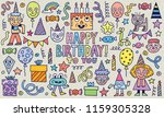 happy birthday to you  doodle... | Shutterstock .eps vector #1159305328