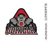 gorilla logo isolated on white... | Shutterstock .eps vector #1159309978