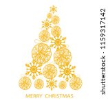 gold christmas tree with stars... | Shutterstock . vector #1159317142