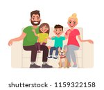 happy family sitting on the... | Shutterstock .eps vector #1159322158