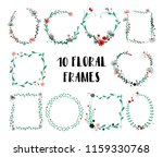 set of cute isolated floral... | Shutterstock .eps vector #1159330768