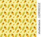 autumn pattern with doodle... | Shutterstock .eps vector #1159332112