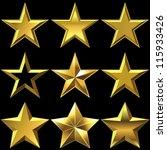 vector volume shiny gold five...   Shutterstock .eps vector #115933426