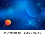 space. cosmic background with... | Shutterstock .eps vector #1159340758