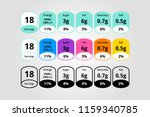 colorful nutrition facts... | Shutterstock .eps vector #1159340785