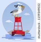 Happy Smiling Albatross Bird...