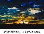 evening sky at sunset the... | Shutterstock . vector #1159354282