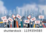 crowd of people protesters.... | Shutterstock .eps vector #1159354585