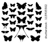 Butterfly Silhouette Set....