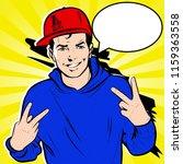 pop art comic vector roy... | Shutterstock .eps vector #1159363558