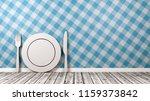 white kitchenware 3d shape on... | Shutterstock . vector #1159373842