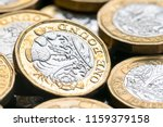new british one pound coin in... | Shutterstock . vector #1159379158