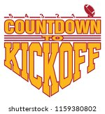 football   countdown to kickoff ... | Shutterstock .eps vector #1159380802