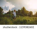 inspired summer nature girl... | Shutterstock . vector #1159382602