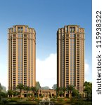 buildings made in 3d   Shutterstock . vector #115938322