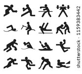set of simple olympic games... | Shutterstock .eps vector #1159383442