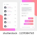 vector phone chat interface.... | Shutterstock .eps vector #1159384765