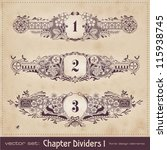 hand drawn floral chapter... | Shutterstock .eps vector #115938745