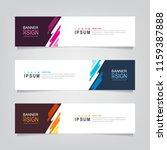 vector abstract web banner... | Shutterstock .eps vector #1159387888
