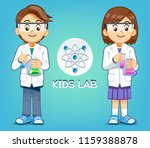 kid test experiments science in ... | Shutterstock .eps vector #1159388878