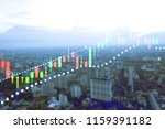 financial data on a monitor as... | Shutterstock . vector #1159391182