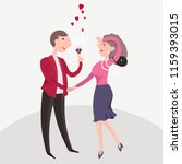 happy man makes marriage... | Shutterstock .eps vector #1159393015