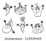 illustration of vegetable... | Shutterstock .eps vector #115939435