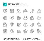 Stock vector outline icons about pets and vet pet care editable stroke x pixel perfect 1159409968