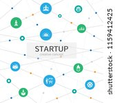 startup infographic concept....