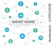 smart home infographic concept. ... | Shutterstock .eps vector #1159412428