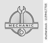auto mechanic service. mechanic ... | Shutterstock .eps vector #1159417705