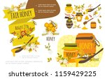 flat organic honey colorful... | Shutterstock .eps vector #1159429225