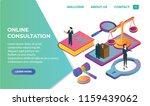 online law isometric landing...   Shutterstock .eps vector #1159439062