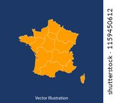 france 2016 map   high detailed ... | Shutterstock .eps vector #1159450612