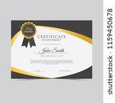 elegant abstract certificate... | Shutterstock .eps vector #1159450678