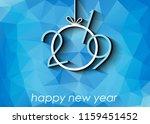 2019 happy new year background... | Shutterstock . vector #1159451452