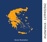 greece map   high detailed... | Shutterstock .eps vector #1159452562