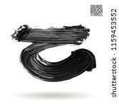 grey brush stroke and texture.... | Shutterstock .eps vector #1159453552