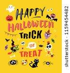 happy halloween. vector... | Shutterstock .eps vector #1159454482