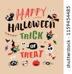 happy halloween. vector... | Shutterstock .eps vector #1159454485