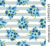 watercolor floral seamless... | Shutterstock . vector #1159455145