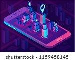 smart city isometric... | Shutterstock .eps vector #1159458145
