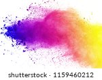abstract of colored powder... | Shutterstock . vector #1159460212