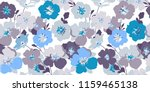 blue floral texture. seamless...   Shutterstock .eps vector #1159465138