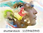 portrait photography blends in...   Shutterstock . vector #1159465945