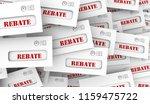 rebate get money back tax...   Shutterstock . vector #1159475722