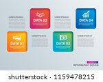 infographics square paper with... | Shutterstock .eps vector #1159478215