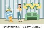 growing indoor plants and... | Shutterstock .eps vector #1159482862