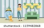 growing indoor plants and...   Shutterstock .eps vector #1159482868
