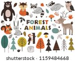 forest animals and plants in... | Shutterstock .eps vector #1159484668